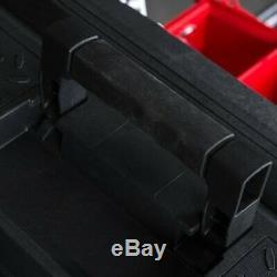 1-Drawer Red Rolling Workshop Plastic Metal Wheeled Lockable Tool Box 22 inch