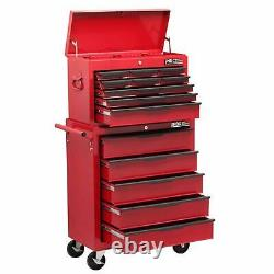 14 Drawer Steel Rolling Tool Cabinet Red Top Chest Box Garage Storage