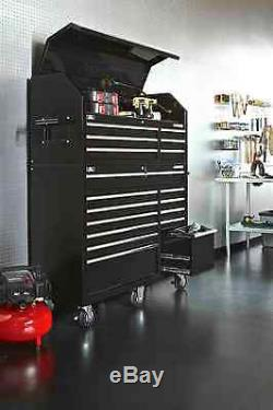 18-Drawer Rolling Power Tools Lid Storage Mechanic Chest Box Rolling Cabinet Set