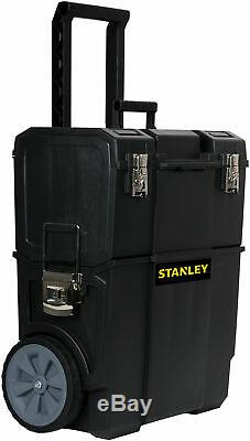 2-IN-1 Portable Tool Box Organizer Rolling Cart Toolbox Mobile Chest Wheels