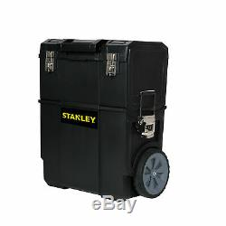 2-in-1 Mobile Rolling Tool Box Organizer Portable Work Center Storage Wheeled