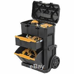 2 in 1 Rolling Tool Box Workshop Transporting Storage Garage Organizer Toolbox