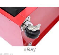 2-in-1 Rolling Tool Cart Wheeled Storage Cabinet Organizer Garage Tool Box