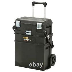 22 in. 4-in-1 Cantilever Rolling Mobile Tool Box 4 Storage Solutions Fat Max