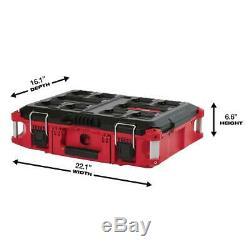 22PACKOUT Modular Tool Box Storage System Locking Stacking Rolling Weather Seal