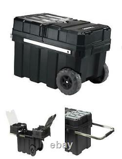 24in Rolling Tool Box with Wheels Craftsman Heavy Essential Workshop Storage USA