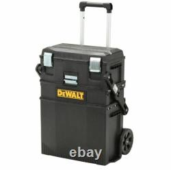 3 Mobile Tool Box Rolling Cart Portable Professional Stackable Storage Organizer