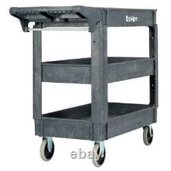 3 Tier Tool Cart Dolly Trolley Heavy Duty Service Rolling Plastic Storage Tub