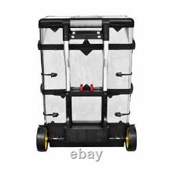 3-in-1 Rolling Tool Box Set Mobile Chest Storage Organizer Portable Cart Trolley