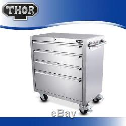 30 Tool Chest Box Stainless Steel 4 Drawer Cabinet Rolling Cart Garage Hot O2X9