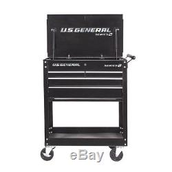 4 Drawer Rolling Tool Storage Shelf Utility Tech Cart withLocks Garage Box