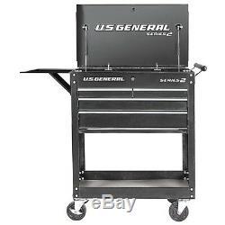 4 Drawer Rolling Tool Storage Utility Tech Cart withLocks Garage Box + FREE GIFT