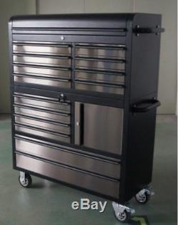 41 Mechanic Black Tinted Rolling Tool Chest Box Tool Trolley