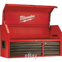 46 in. Tool Chest Rolling Cabinet Set 16-Drawer Wheel Locks Steel Red Milwaukee