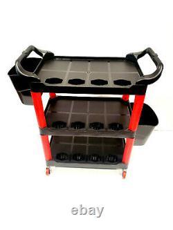 4SG Detailing Cart Trolley Mobile Rolling Utility Detail Tool Garage