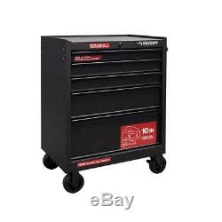 5-Drawer Rolling Cabinet Tool Chest 27 Inch by Husky Textured Black