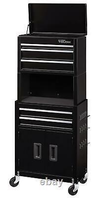 5 Drawer Rolling Tool Chest Chest Cabinet Equipment Storage Organizer Adjustable
