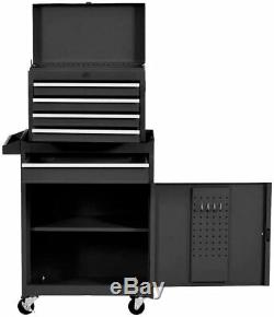 5 Drawer Rolling Tool Chest Large Capacity Tool Box Detachable Tool Cabinet