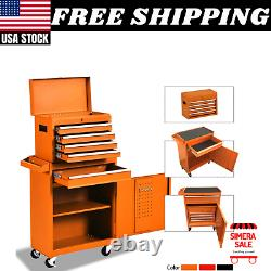 5-Drawer Rolling Tool Chest Wheels Drawers Tool Storage Cabinet Detachable