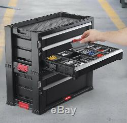 5 Drawer Rolling Tool ChestBox Cabinet Storage Garage Mechanic Machinist Resin