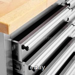 72 Tool Chest Rolling Tool Box 10 Drawer 1 Cabinet Wheeled Cart Garage Hot M0Q1