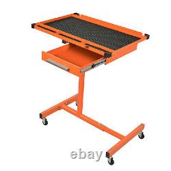 AAIN Heavy Duty Adjustable Work Table with Drawer, 200 lbs Capacity Rolling Tool