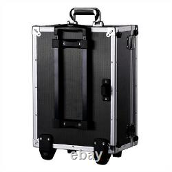Aluminum Cameras & Accessories Rolling Trolley Case DIY Foam Storage Toolboxes