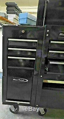 Blue-Point Roll Cart Tool Box, Drawers, Black color flip up top withkey