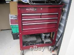 Blue Point by Snap-On 4 drawer rolling toolbox/cart with piano hinge top lid