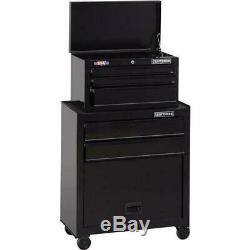 CRAFTSMAN 1000 Series 5-Drawer Rolling Steel Tool Chest and Cabinet Combo Black