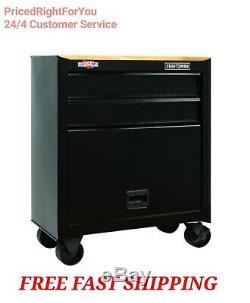 CRAFTSMAN 26 x 14 2 Drawer Steel Mobile Rolling Tool Cabinet Chest Workstation