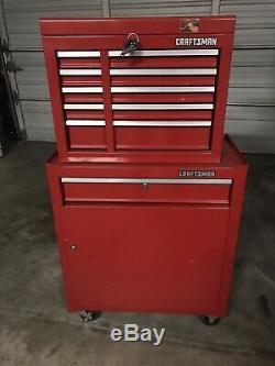 CRAFTSMAN TOOL BOX 6 DRAWERS Plus Rolling Cabinet LOCKS With Keys