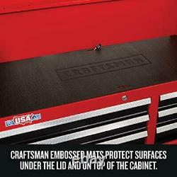 CRAFTSMAN Tool Chest with Drawer Liner Roll/Tray Set, 52-Inch, 8 Drawer, Red