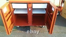 CRESCENT JOBOX 675990 JOBOX Rolling Work Bench 2 Drawers, 2 Shelves, 4