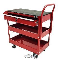 Cart Tool Steel Rolling Mechanic Workshop Storage Garage Box Drawer Cabinet