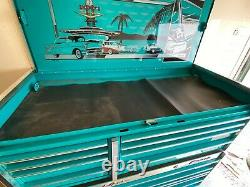 Chevy'57 Belair Collectors Edition Teal Snap On Tool Box Roll Chest