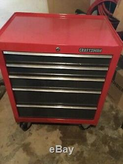 Craftsman 1000 Series 27 inch 5-Drawer Tool Chest Rolling Cabinet Black