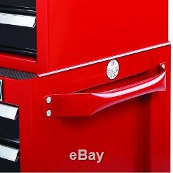 Craftsman 26-Inch 4-Drawer Rolling Cabinet Red Garage Tool Storage Organizer Box