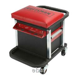 Craftsman Garage Glider Sliding Rolling Portable Tool Chest Seat 2 Drawer NEW