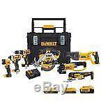 DEWALT Cordless Combo Tool Kit 20V MAX Drill Driver Grinder Saws Rolling Toolbox
