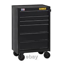 DEWALT DWST22760 Rolling Tool Cabinet, 6-Drawer, Double Wall Steel, 26-In