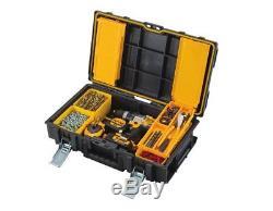 DEWALT Large Rolling Wheel Portable Toolbox Chart Chest Storage Box Combo (3-pc)
