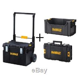 DEWALT Rolling Tool Box ToughSystem Modular Combo Set Mobile Chest Organizer Set