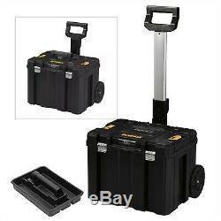 Dewalt DWST1-75799 TStak Tower Rolling Mobile Tool Storage Boxes 3 Tstak Cases