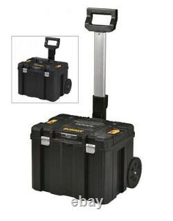 Dewalt DWST1-75799 TStak Trolley Rolling Mobile Tool Storage Box + Tote + Handle