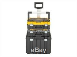 Dewalt DWST1-81049 TStak Tower Rolling Mobile Tool Storage Boxes 2 Tstak Cases