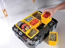 Dewalt DWST83411-1 TStak 2.0 Tower Rolling Mobile Tool Storage Boxes + Tote Tray