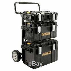 Dewalt Large Rolling Toolbox on Wheels Travel Storage Chest Cart 4pc ToughSystem