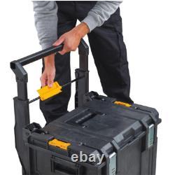 Dewalt Large Rolling Toolbox on Wheels Travel Storage Chest ToughSystem 3-pc Set