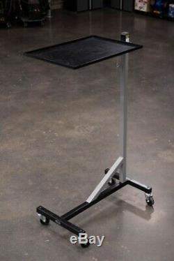 Eastwood Rolling Shop Tray Tool Cart With 100Lb Capacity Adjustable Height